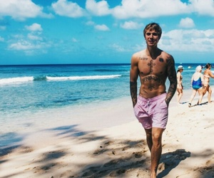 justin bieber, bieber, and beach image