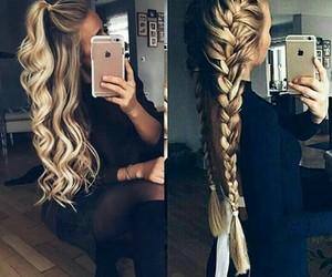 black, blonde, and braid image
