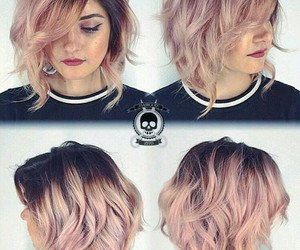 cool, curly hair, and dyed hair image