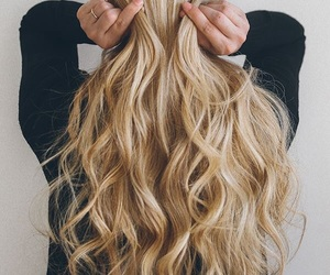 blond, girl, and hairstyle image