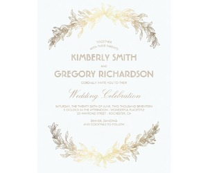 cards, gold, and invitations image