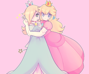 blue, fanart, and princess peach image