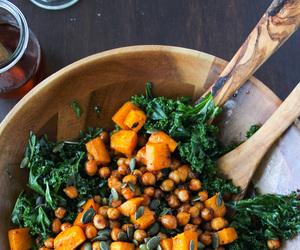 salad, food, and kale image