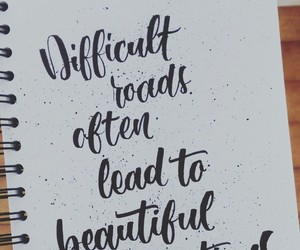 motivational, quote, and brushlettering image