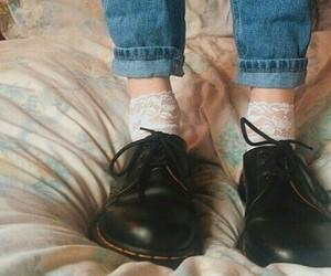 dr martens, jeans, and vintage image