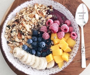 fruit, healthy, and acai bowl image