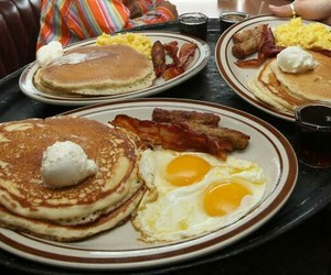 bacon, delicious, and pancake image