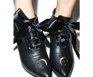 leather, moon, and ankle booties image