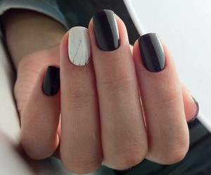 nails, black, and manicure image