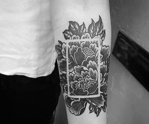flowers, tattoo, and indie image