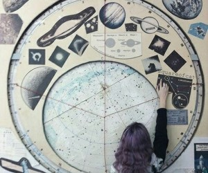 aesthetic, astronomy, and girl image