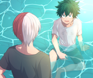 boku no hero academia, midoriya izuku, and todoroki shouto image