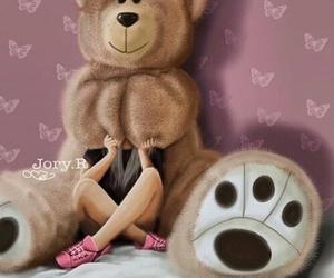 art and teddy bear image