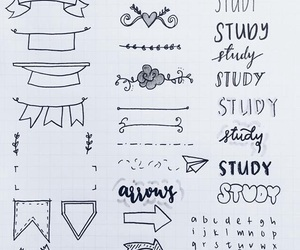 doodle, notebook, and notes image