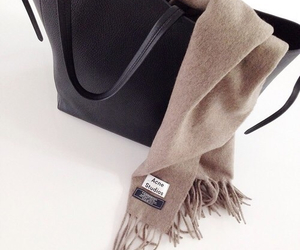 fashion, bag, and scarf image