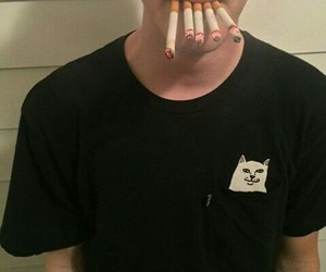boy, cigarette, and grunge image
