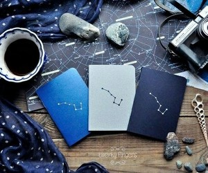 aesthetic, blue, and stars image