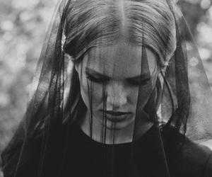 black and white, sad, and black image