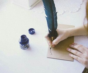 aesthetic, writing, and blue image