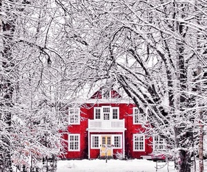 beautiful, red house, and Houses image