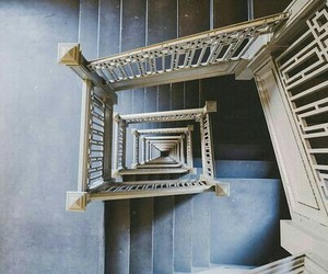aesthetic, steps, and blue image