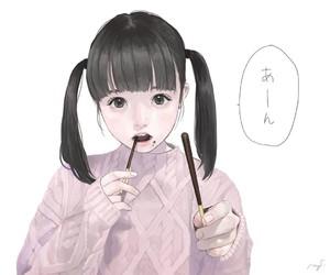 anime, fluffy, and illustration image