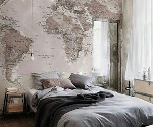 bedroom, room, and map image