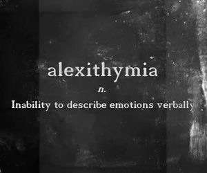 emotions, quotes, and alexithymia image