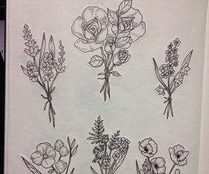 flowers, minimal, and tattoo image