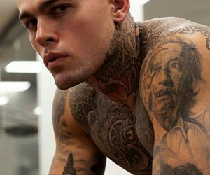 stephen james, model, and tattoo image