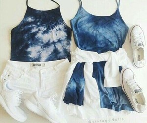 blue, fashion, and tops image