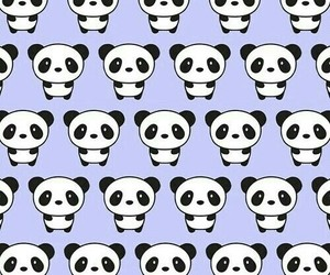 panda, pattern, and wallpaper image