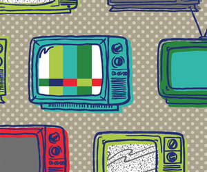 pattern, tv, and background image