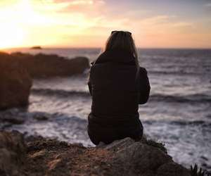 free, girl, and sunset image