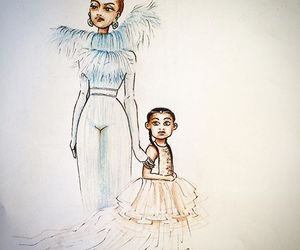 blue, beyonce art, and queen bey image