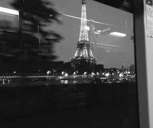 paris, black and white, and travel image