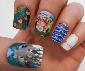 nails, abbey road, and beatles image