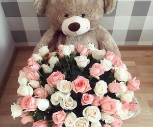 bear, flower, and cute image