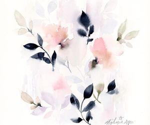 aquarelle, art, and flowers image