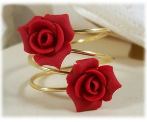 flowers, red, and ring image