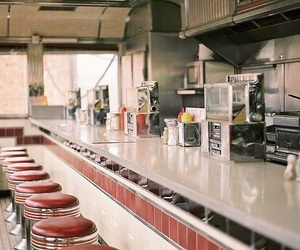 vintage, restaurant, and diner image