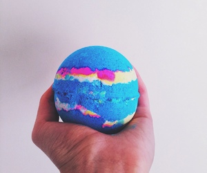 lush, blue, and bath bomb image