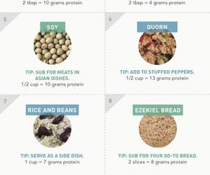 healthy, food, and protein image