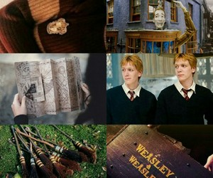 fred and george, harry potter, and quidditch image