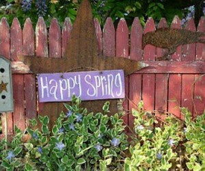 fence, flowers, and spring image