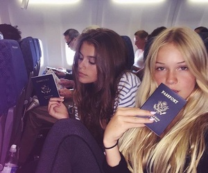 airplane, blonde, and friends image