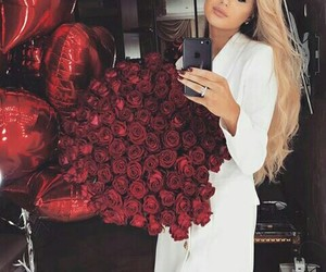 blonde, goals, and love flowers image