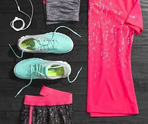 fitness, outfit, and pink image