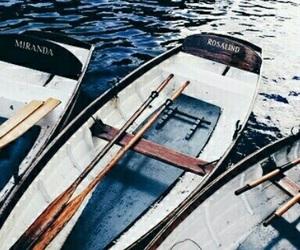 boat, blue, and aesthetic image
