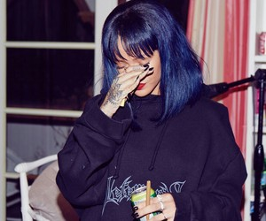 blue hair, girls, and fashion image